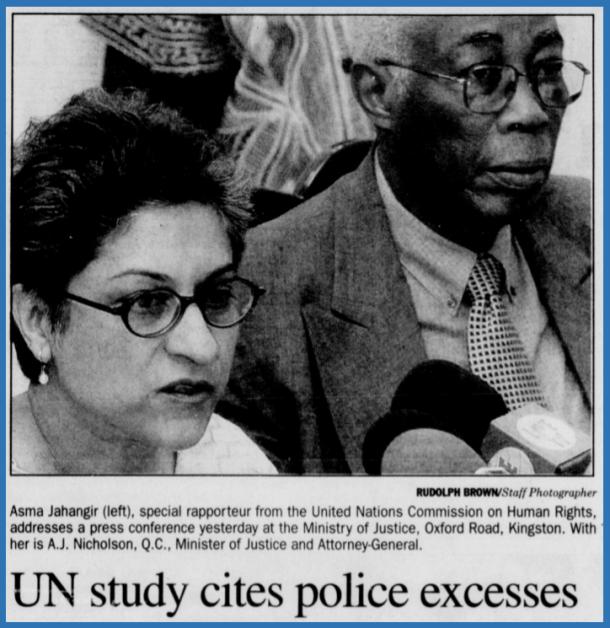 Asma Jahangir - Gleaner 28-2-2003 pA1